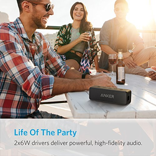 8aa852e858309 [Upgraded] Anker Soundcore 2 Portable Bluetooth Speaker with 12W Stereo  Sound, Bluetooth 5, Bassup, IPX7 Waterproof, 24-Hour Playtime, Wireless  Stereo ...