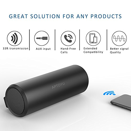 Aptoyu Bluetooth Speakers With 24 Hour Playtime