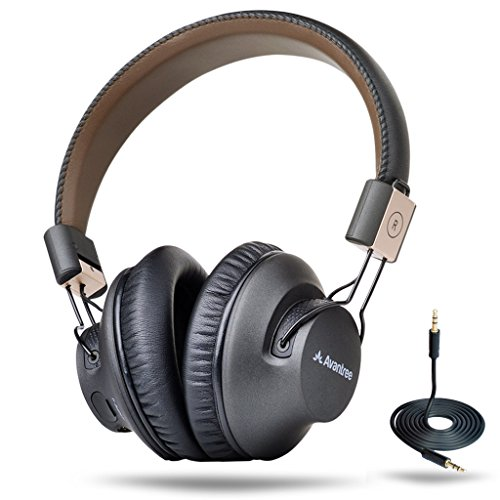 Avantree-40-hr-Wireless-Bluetooth-41-Over-the-Ear-Foldable-Headphones-Headset-with-Mic-APTX-LOW-LATENCY-Fast-Audio-for-TV-PC-Gaming-with-NFC-Wired-mode-Audition-Pro-2-Year-Warranty-0