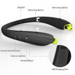 Bluetooth-Headphones-Sywan-Upgrade-Wireless-Neckband-bluetooth-41-headset-with-Retractable-Earbuds-Foldable-DesignSports-Stereo-In-ear-Earbuds-for-iPhone-and-Android-0-3