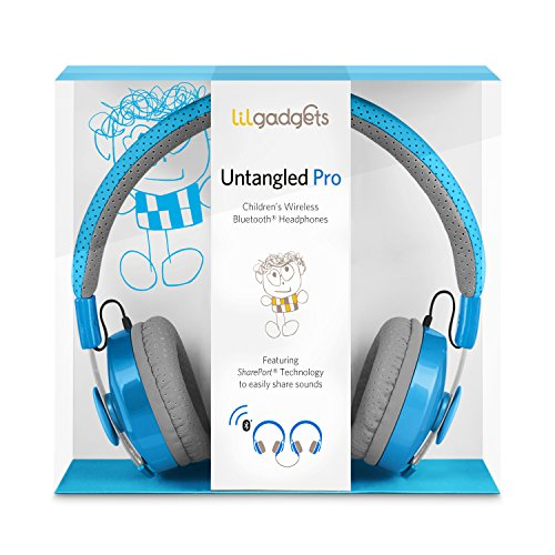 LilGadgets-Untangled-Pro-Premium-Childrens-Wireless-Bluetooth-Headphones-with-SharePort-Blue-0