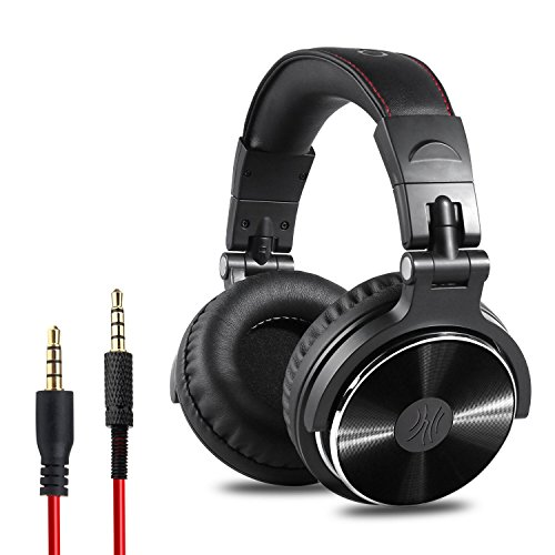 OneOdio-Adapter-free-Closed-Back-Over-Ear-DJ-Stereo-Monitor-Headphones-Professional-Studio-Monitor-Mixing-Telescopic-Arms-with-Scale-Newest-50mm-Neodymium-Drivers-Glossy-Finsh-0