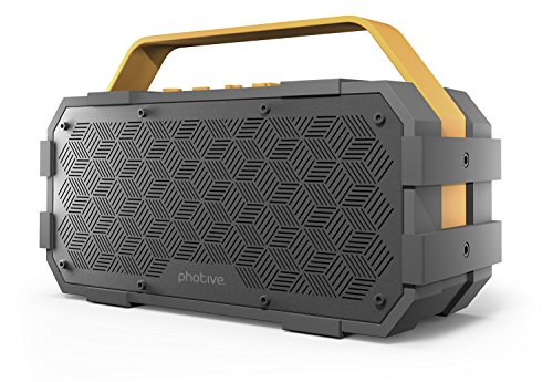 Photive-M90-Portable-Waterproof-Bluetooth-Speaker-with-Built-In-Subwoofer-20-Watts-Of-Power-IPX5-Water-Resistant-Rugged-0