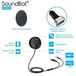 SoundBot-SB360-Bluetooth-40-Car-Kit-Hands-Free-Wireless-Talking-Music-Streaming-Dongle-w-10W-Dual-Port-21A-USB-Charger-Magnetic-Mounts-Built-in-35mm-Aux-Cable-0-0
