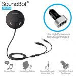 SoundBot-SB360-Bluetooth-40-Car-Kit-Hands-Free-Wireless-Talking-Music-Streaming-Dongle-w-10W-Dual-Port-21A-USB-Charger-Magnetic-Mounts-Built-in-35mm-Aux-Cable-0