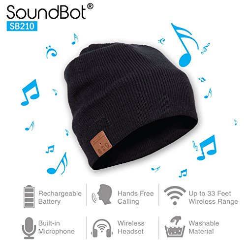 Soundbot-SB210-HD-Stereo-Bluetooth-41-Wireless-Smart-Beanie-Headset-Musical-Knit-Headphone-Speaker-Hat-Speakerphone-Capbuilt-in-Mic-BLK-0