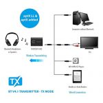 TROND-2-in-1-Bluetooth-V41-Transmitter-Receiver-Wireless-35mm-Audio-Adapter-AptX-Low-Latency-for-Both-TX-RX-2-Devices-Simultaneously-For-TV-Home-Stereo-or-MP3-Player-0-2