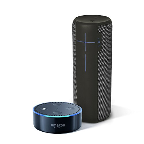 UE-MEGABOOM-Charcoal-Black-Wireless-Mobile-Bluetooth-Speaker-Waterproof-and-Shockproof-All-New-Echo-Dot-2nd-Generation-Black-0