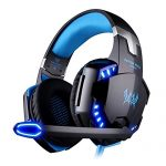 VersionTech-G2000-Stereo-Gaming-Headset-for-PS4-Xbox-One-Bass-Over-Ear-Headphones-with-Mic-LED-Lights-and-Volume-Control-for-Laptop-PC-Mac-iPad-Computer-Smartphones-Blue-0