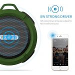 VicTsing-Shower-Speaker-Wireless-Waterproof-Speaker-with-5W-Driver-Suction-Cup-Built-in-Mic-Hands-Free-Speakerphone-Army-Green-0-2