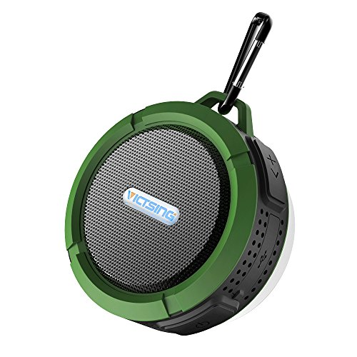 VicTsing-Shower-Speaker-Wireless-Waterproof-Speaker-with-5W-Driver-Suction-Cup-Built-in-Mic-Hands-Free-Speakerphone-Army-Green-0