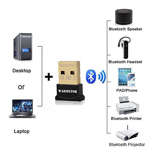 Warmstor Bluetooth Adapter Csr 4 0 Usb Dongle Bluetooth Receiver