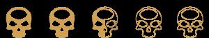 Ratings - 2-5 Skulls - SpeakersBluetooth - Gold