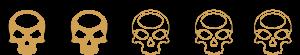 Ratings - 2 Skulls - SpeakersBluetooth - Gold