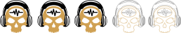 Ratings - 3 Skulls - SpeakersBluetooth - Gold