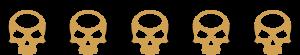 Ratings - 5 Skulls - SpeakersBluetooth - Gold
