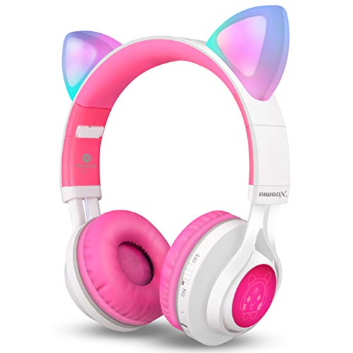 Riwbox-CT-7-Cat-Ear-Bluetooth-Headphones-LED-Light-Up-Bluetooth-Wireless-Over-Ear-Headphones-Microphone-Volume-Control-iPhoneiPadSmartphonesLaptopPCTV-0