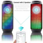 CLEVER-BRIGHT-Portable-Bluetooth-Speakers-LED-Lights-7-Patterns-Visual-Wireless-Speaker-41-HD-Bass-Powerful-Sound-Built-in-MicAUXHands-Free-Home-Outdoor-Wireless-Bluetooth-Speaker-0-3