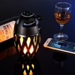DIKAOU-Led-flame-table-lamp-Torch-atmosphere-Bluetooth-speakersOutdoor-Portable-Stereo-Speaker-with-HD-Audio-and-Enhanced-BassLED-flickers-warm-yellow-lights-BT42-for-iPhoneiPad-Android-0-0