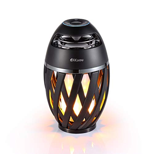 DIKAOU-Led-flame-table-lamp-Torch-atmosphere-Bluetooth-speakersOutdoor-Portable-Stereo-Speaker-with-HD-Audio-and-Enhanced-BassLED-flickers-warm-yellow-lights-BT42-for-iPhoneiPad-Android-0