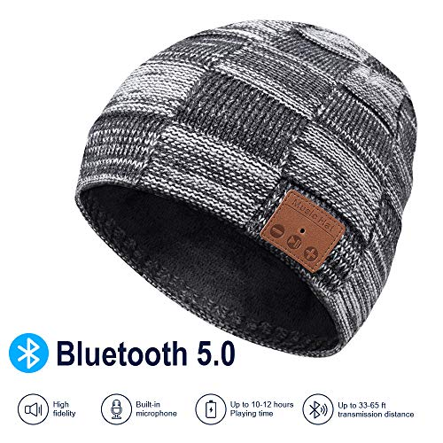 Bluetooth-Beanie-V50-Bluetooth-Hat-Wireless-Earphone-Beanie-Headphones-with-HD-Stereo-Speakers-Built-in-Microphone-Mens-Gifts-Christmas-Electronic-Gifts-for-MenWomen-0