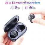 Langsdom-Wireless-Earbuds-Bluetooth-50-Headphones-Touch-Control-Volume-Control-Stereo-Bass-Qualcomm-aptXIPX6-Waterproof-32H-Playtime-Bluetooth-Earphones-for-iPhone-AndroidBlack-0-1