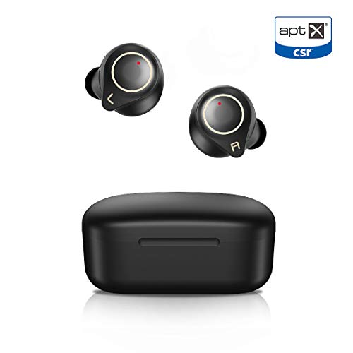 Langsdom-Wireless-Earbuds-Bluetooth-50-Headphones-Touch-Control-Volume-Control-Stereo-Bass-Qualcomm-aptXIPX6-Waterproof-32H-Playtime-Bluetooth-Earphones-for-iPhone-AndroidBlack-0