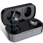 True-Wireless-Earbuds-Bluetooth-50-14-Dynamic-Driver-in-Ear-Headphones-HiFi-Stereo-One-Step-Pairing-DSP-Noise-Canceling-Sweatproof-Secure-Fit-Earphones-with-Microphone-Black-0