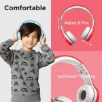 LilGadgets-Connect-Kids-Premium-Volume-Limited-Wired-Headphones-with-SharePort-and-Inline-Microphone-Children-Toddlers-Red-0-0