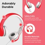 LilGadgets-Connect-Kids-Premium-Volume-Limited-Wired-Headphones-with-SharePort-and-Inline-Microphone-Children-Toddlers-Red-0-1