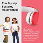 LilGadgets-Connect-Kids-Premium-Volume-Limited-Wired-Headphones-with-SharePort-and-Inline-Microphone-Children-Toddlers-Red-0-3
