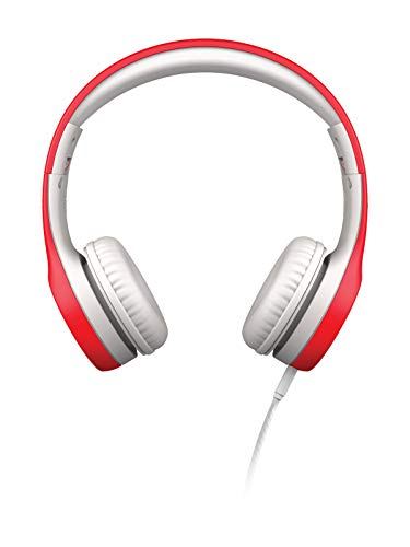 LilGadgets-Connect-Kids-Premium-Volume-Limited-Wired-Headphones-with-SharePort-and-Inline-Microphone-Children-Toddlers-Red-0